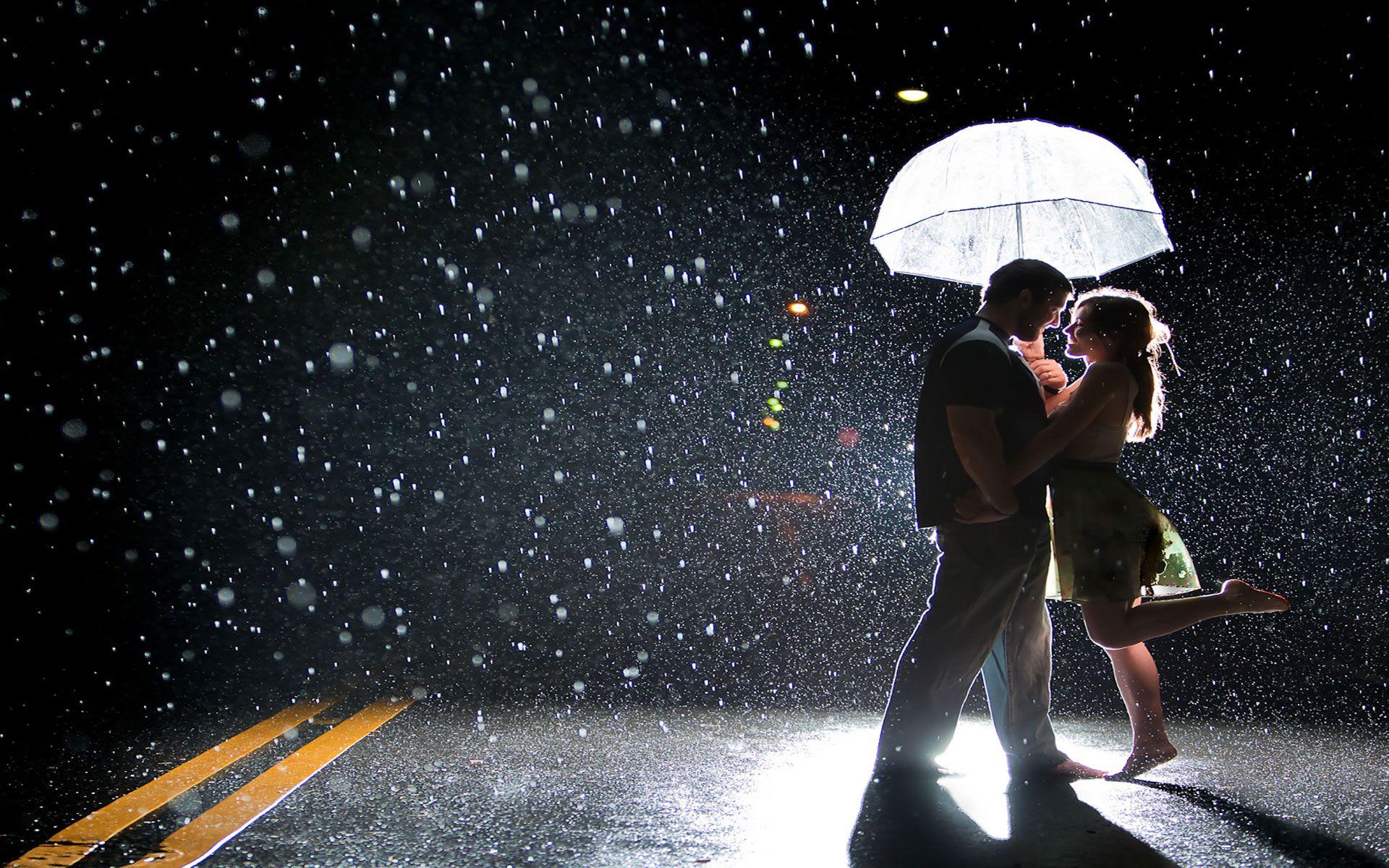 Joy Of Couple On A Rainy Street Romantic Sad Couple Wallpapers