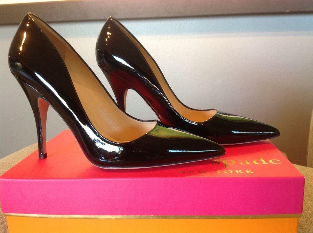 97050208e581 Kate Spade Patent Leather Black Licorice Pumps