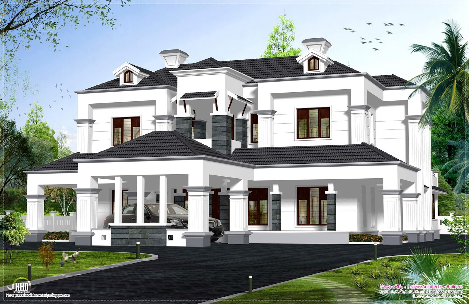 Floor plan design kerala single house plans storey trend Luxury victorian house plans