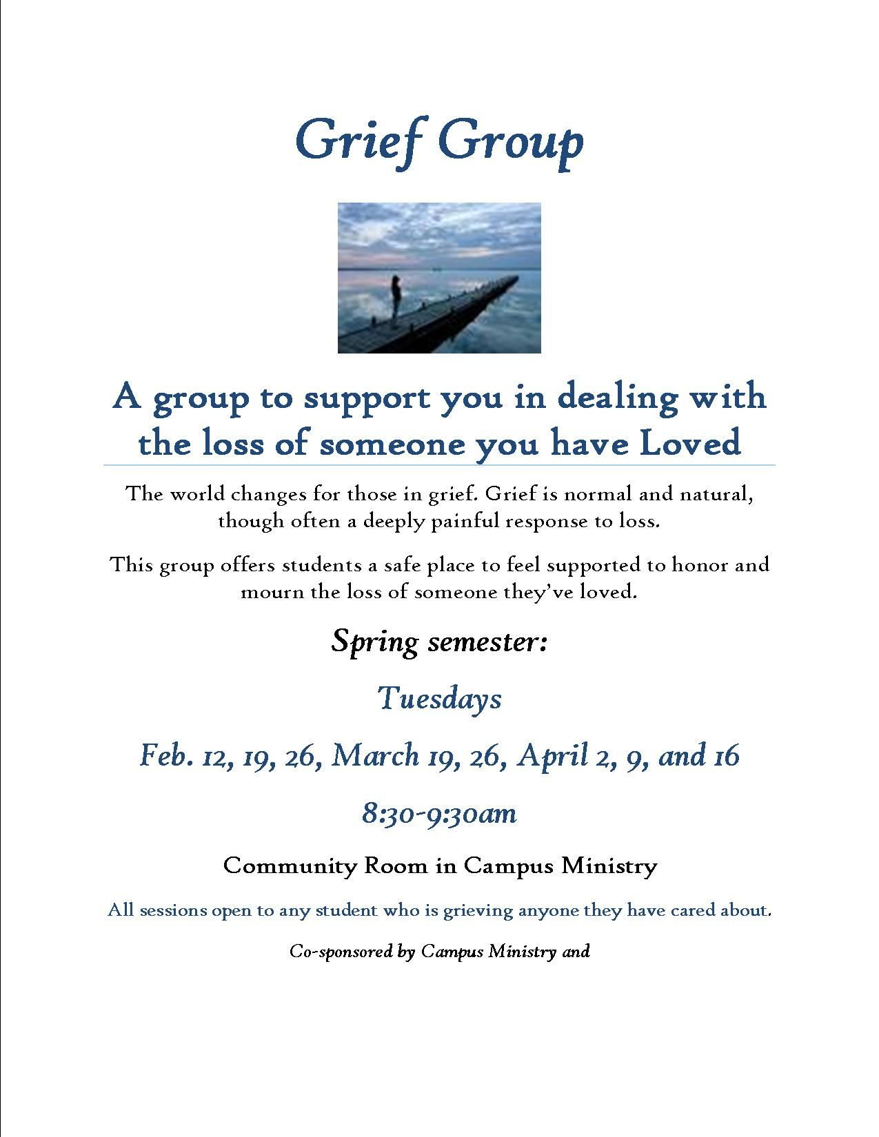 Grief Group Spring