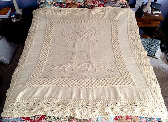 Knitted Wedding Gifts: Yggdrasil Afghan Pattern By Lisa Jacobs