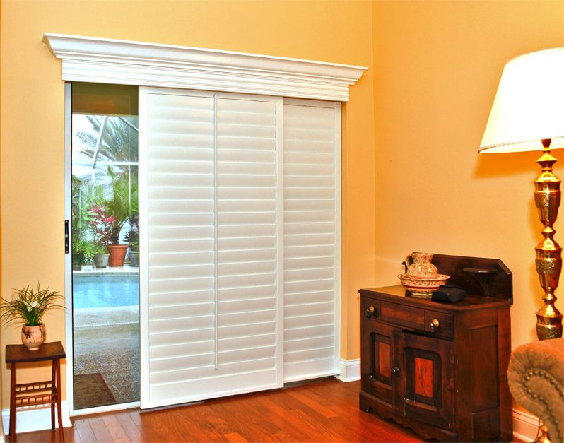 Sliding Doors Can Offer Much To A Room Including Abundant Natural - Hunter douglas blinds for patio doors