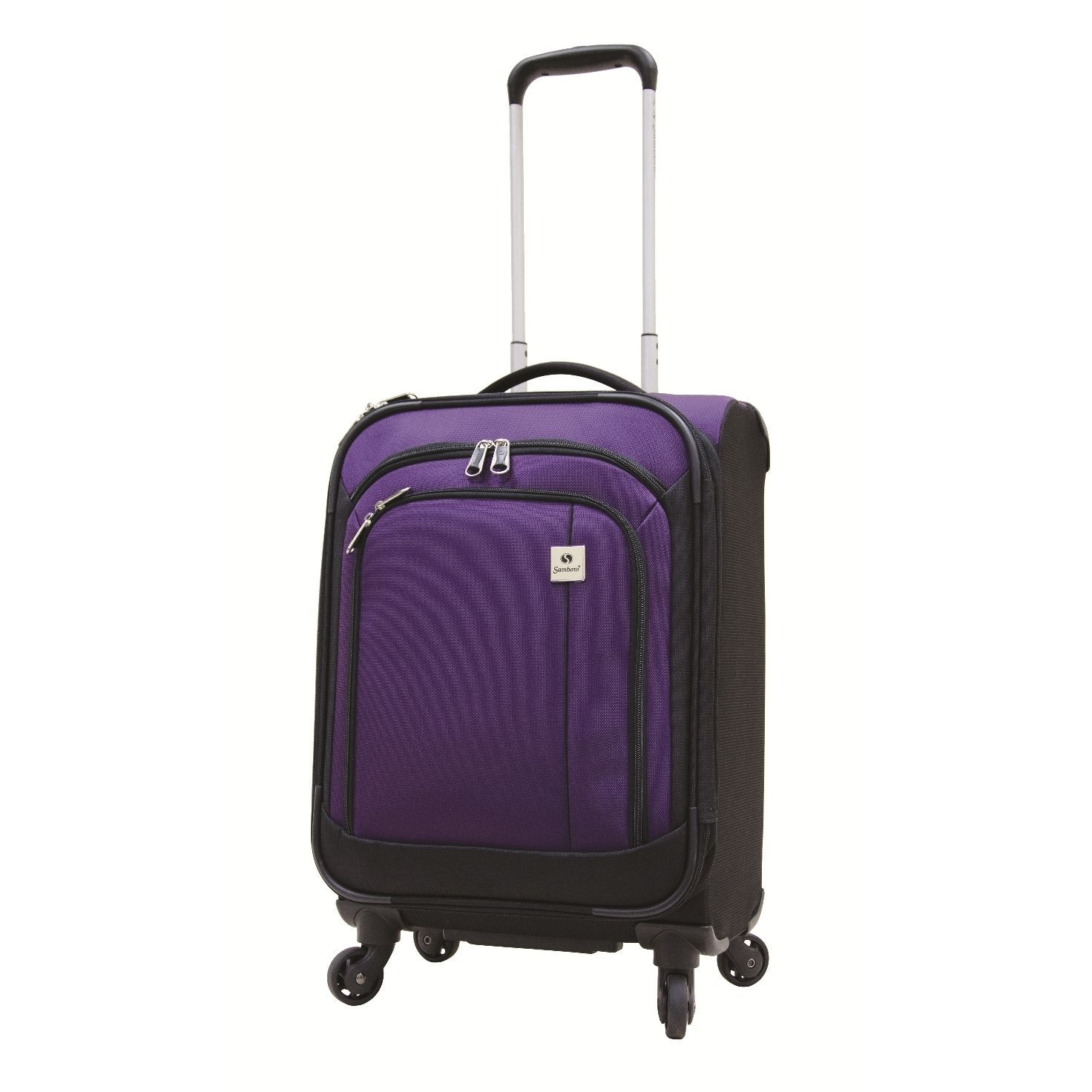 Samboro Feather Lite Purple 19-inch Lightweight Carry On Spinner ...