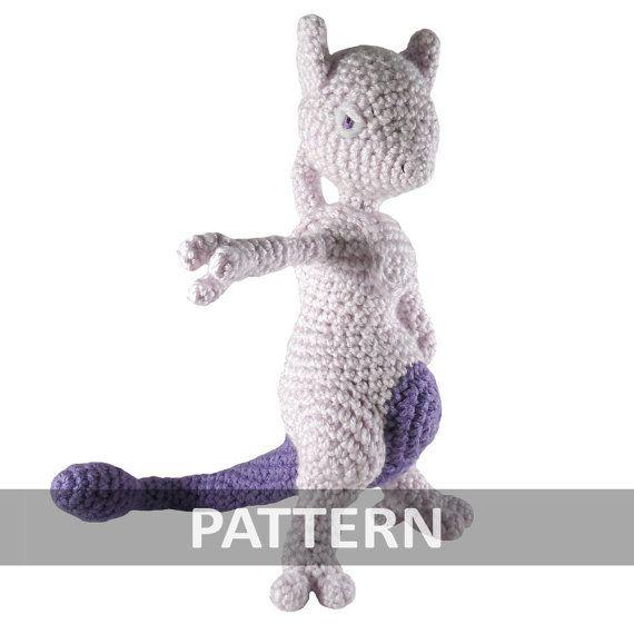 PATTERN Mewtwo Amigurumi Crochet Plush PDF | Cosas