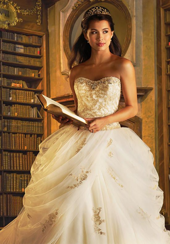 Trendy Disney Fairy Tale Weddings by Alfred Angelo Belle Wedding Dress The Knot