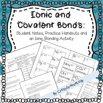 Chemical Bonds Ionic Bonding And Covalent Bonding Covalent Bonding Ionic Bonding Teaching Chemistry