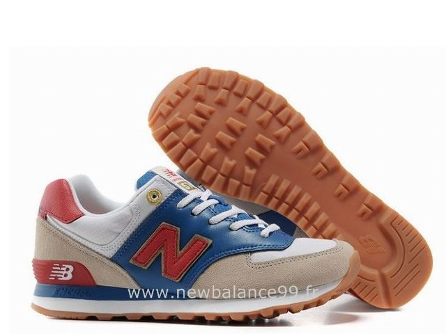 grossiste f103f b46aa New Balance - 574 - Femme - Royale/Rouge-Doré-Beige New ...