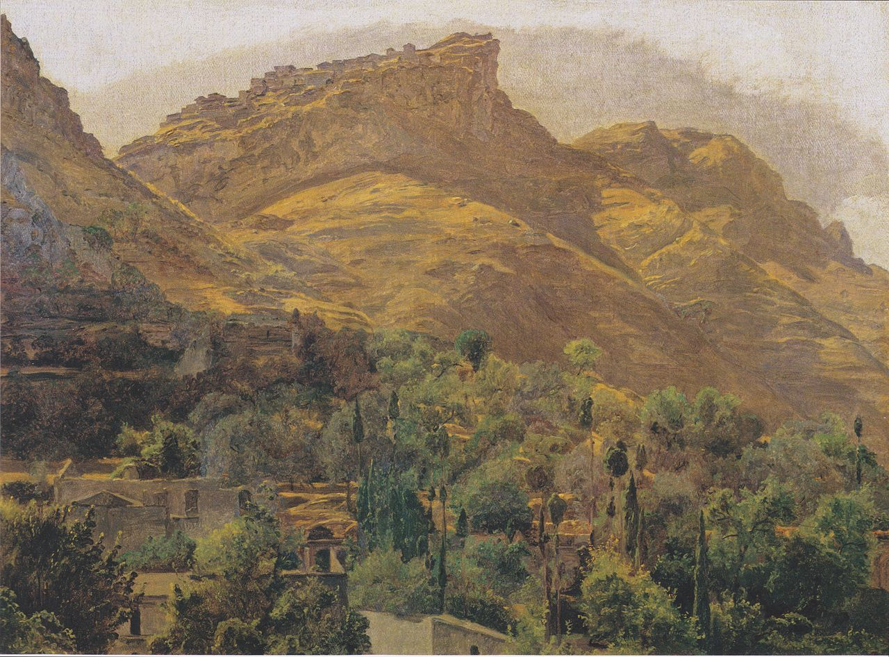 Look to the mountain town of Mola at Taormina, 1844 Ferdinand Georg Waldmüller