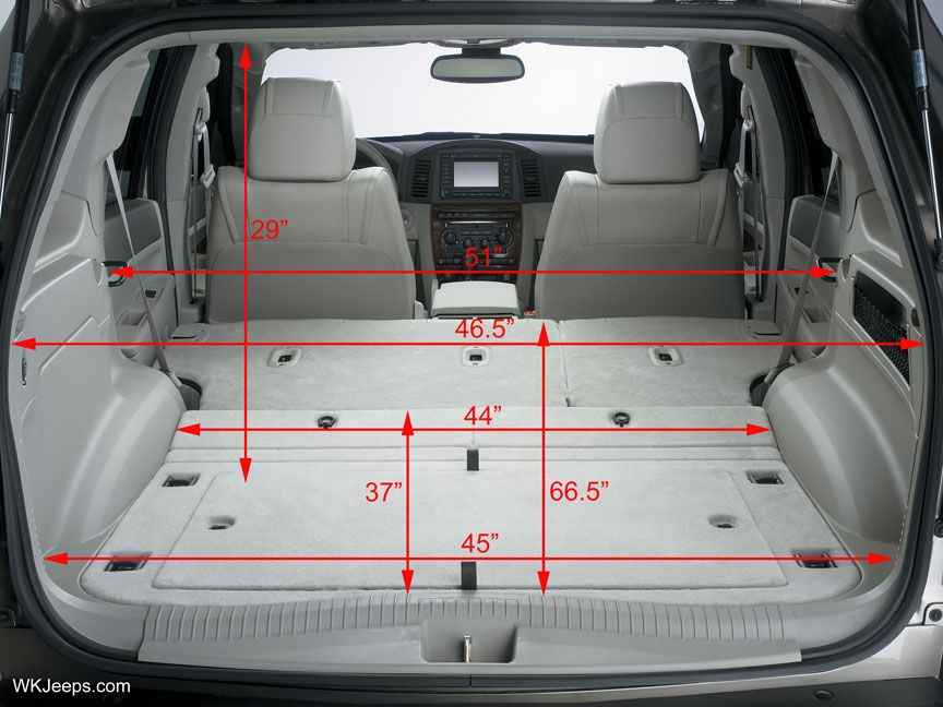 Attractive For Hauling All Those Items That Might Not Fit I Love. Jeep Grand Cherokee  WJ   Cargo Area Dimensions