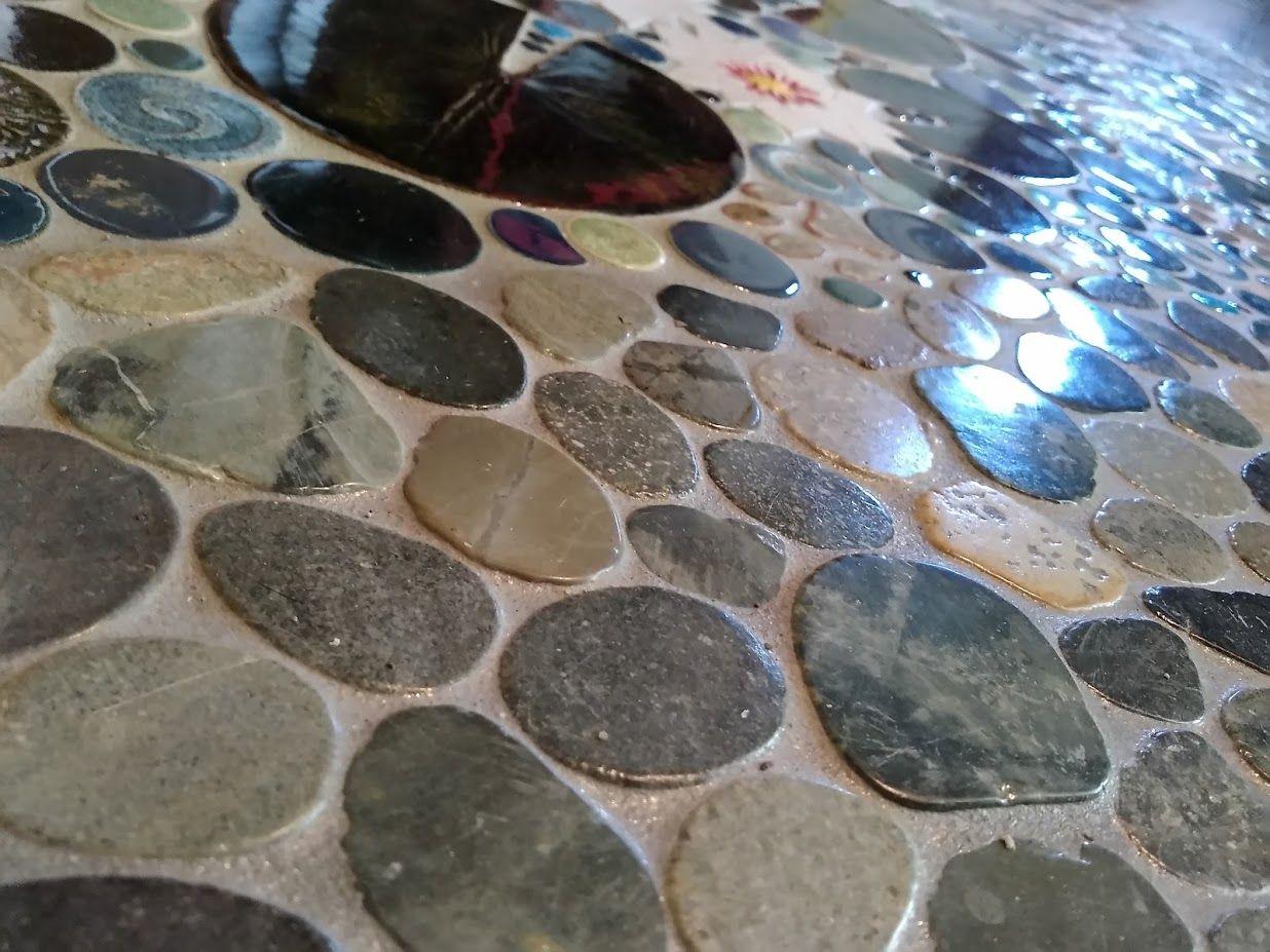 Sliced Pebble Mosaic