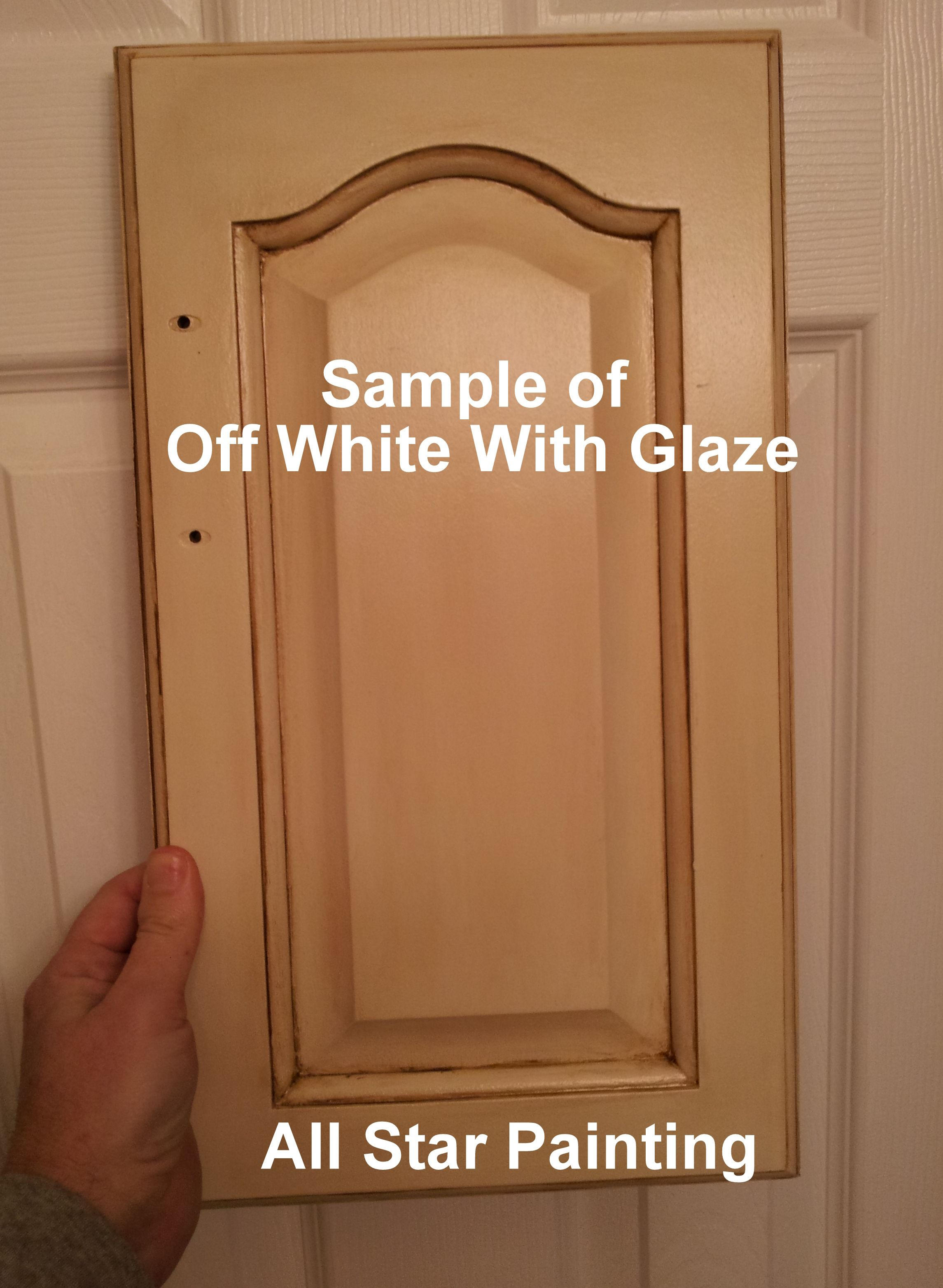 Spray paint for kitchen cupboards  a sample of how an old cabinet door can look with some offwhite
