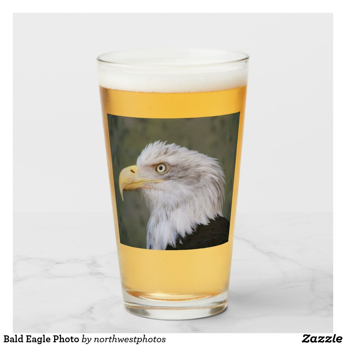 White Headed Bald Eagle Photo Glass Zazzle Com Bald Eagle Photo Bald Eagle American Bald Eagle