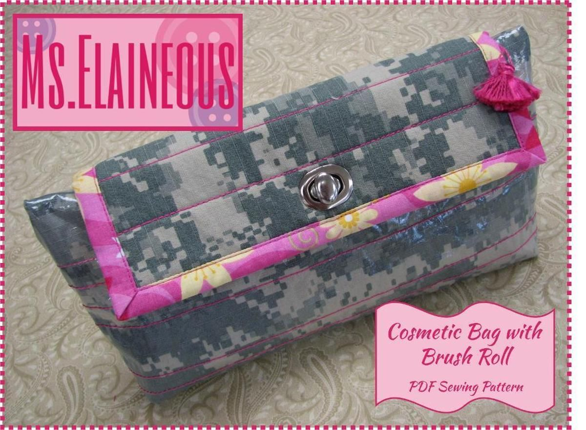 eaf7fae8c2 Cosmetic Bag with Brush Roll