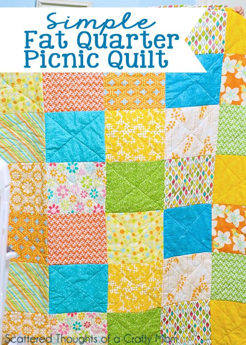 My First Quilt! (plus lessons learned | Picnic quilt, Fat quarters ... : quilts from fat quarters - Adamdwight.com