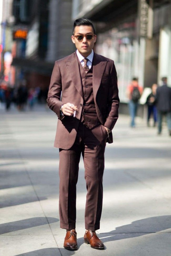 brown 3 piece suits - Google Search | Sam's Attire Inspo ...