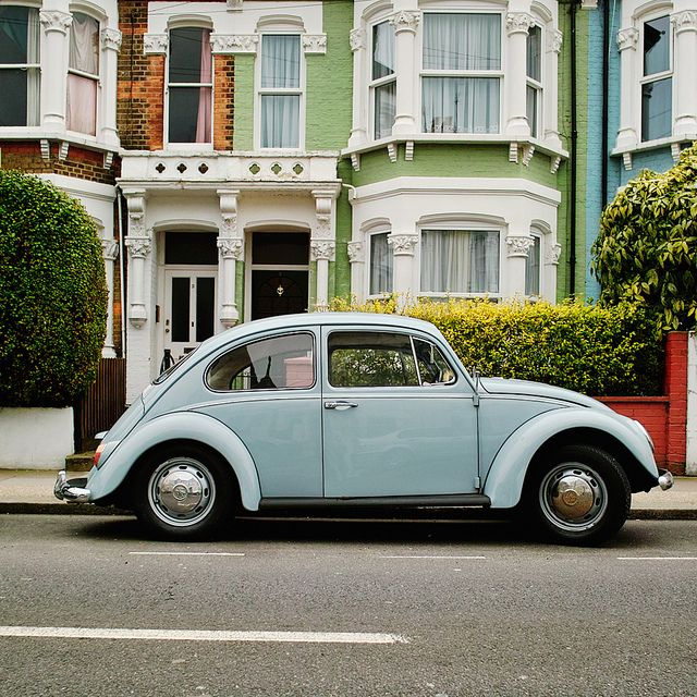 """Mortimer Rd., London, UK: (I haven't been to the UK....I've just driven a """"powder blue"""" VW, before)"""