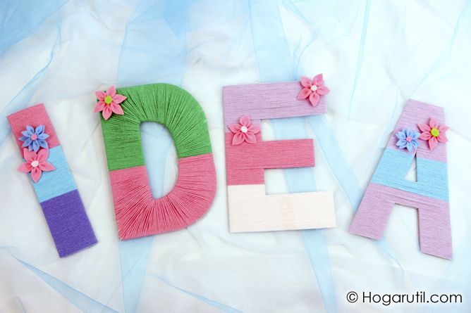 Letras de lana para decorar manualidades decoracion diy - Manualidades para decoracion ...