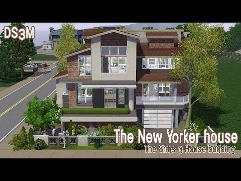 The Sims 3 House Building - The New Yorker House Speed Build - new sims 3 blueprint mode
