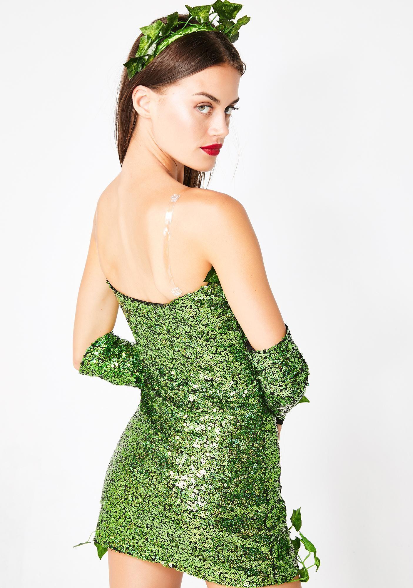 Halloween Poison Ivy Sequin Costume Dolls Kill in 2020