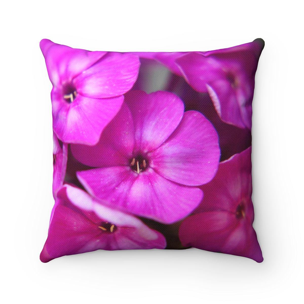 Spun Polyester Bright Pink Flowers Pillow Home Decor Flower Print Throw Pillow Floral Flower Pillow Pillows Floral Printed Throw Pillows