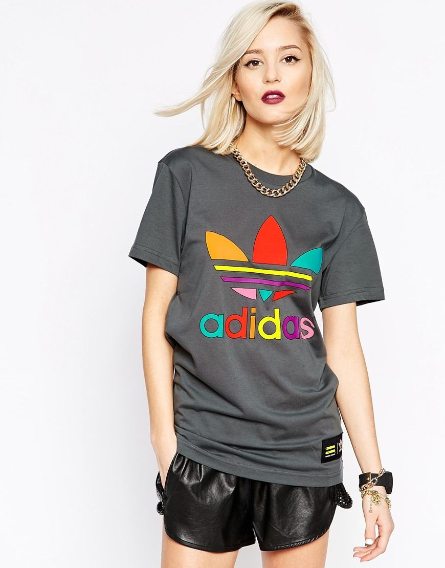 Image 1 Of Adidas Originals X Pharrell Williams Supercolor T Shirt Colorful Sportswear Adidas Outfit Fashion [ 1110 x 870 Pixel ]