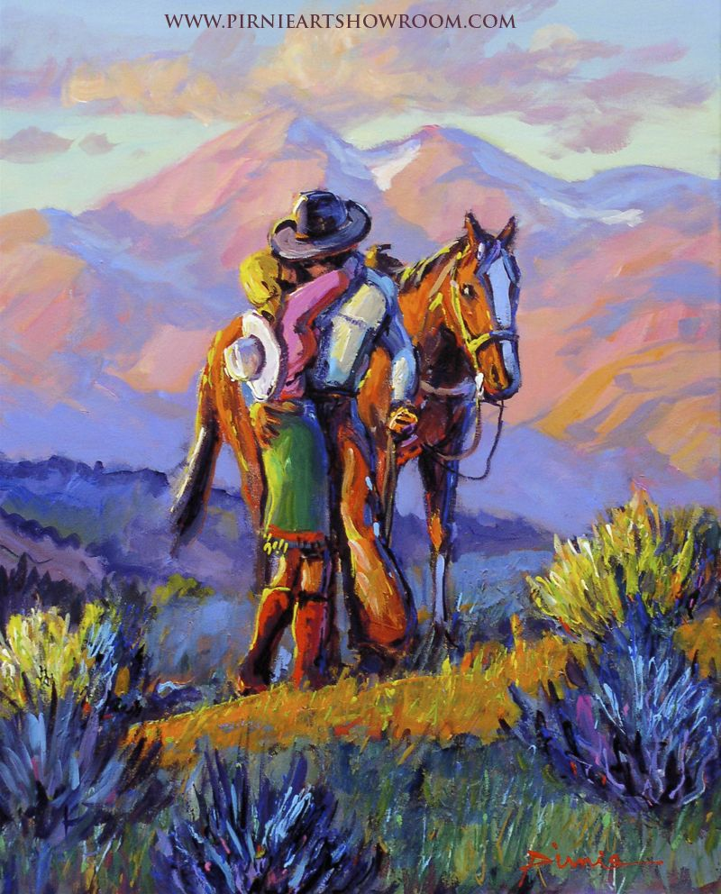 """ Home"" Larry Pirnie Contemporary Western Artist"