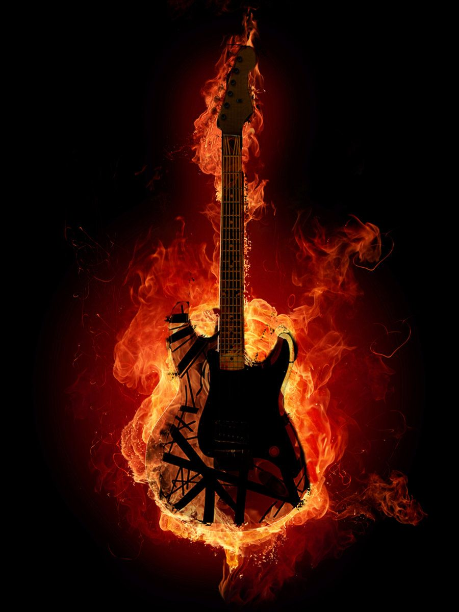 guitar on fire wallpapers - photo #14