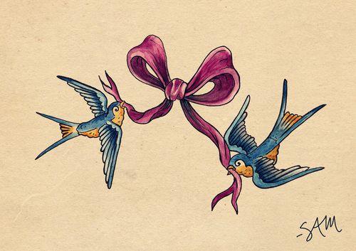 Pin By Tian Carling On Tattoos Neck Tattoo Birds Tattoo Bow Tattoo