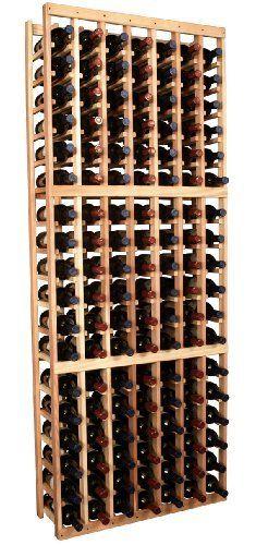 Wooden 126 Bottle Standard Wine Cellar Storage Rack Kit Premium