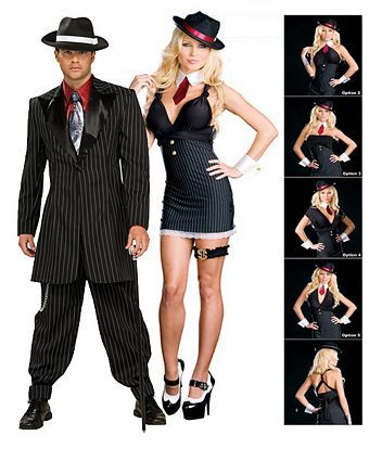 Gangster Wrap Five In One Costume - Womens Couples Halloween Costumes  sc 1 st  Pinterest & Gangster Wrap Five In One Costume - Womens Couples Halloween ...