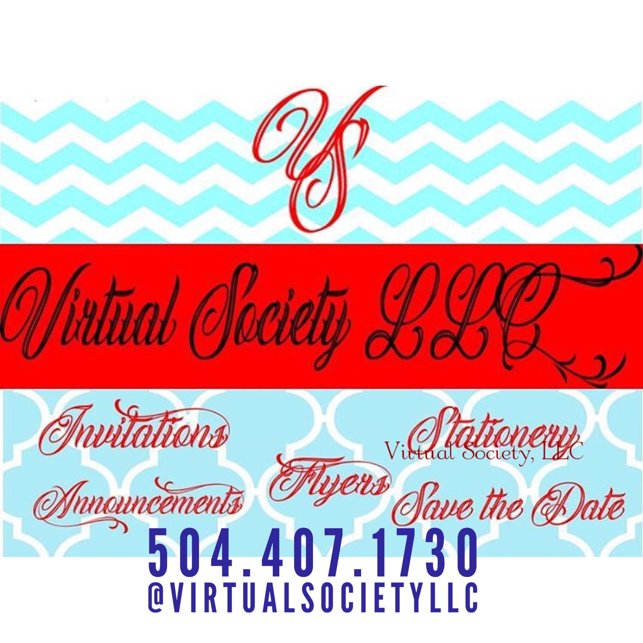 Virtual Society - Custom & Pre-Made Invitations, Save the Date Cards ...