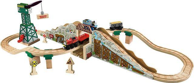 Thomas Friends Wooden Railway Set Gold Mine Mountain Toysrus Com Thomas And Friends Gold Mining Thomas