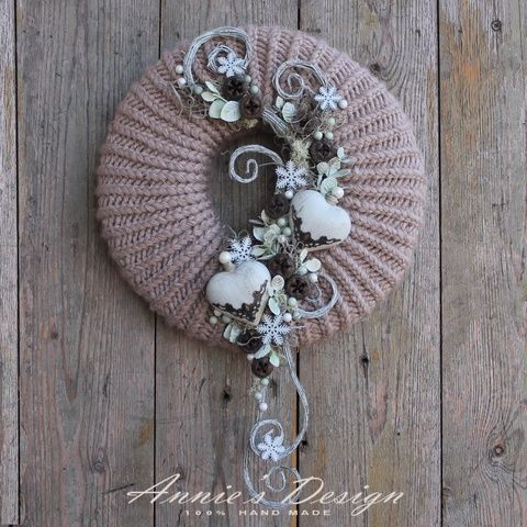 All drops are intoxicating – knit winter door decor (anniesdesign) …