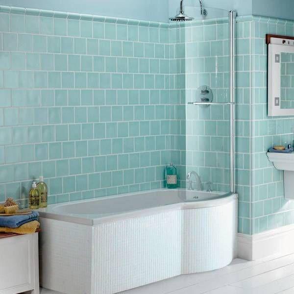 Staggered square aqua tiles | Interiors | Pinterest | Victorian bathroom