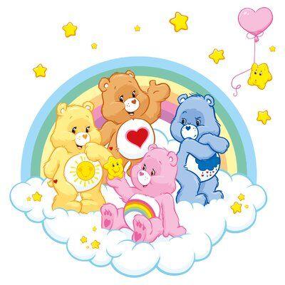 East Urban Home Care Bears Star Magic Wall Sticker | Wayfair.co.uk