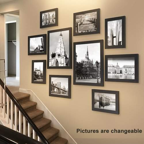 Buckman 10 Piece Collage Picture Frame Set Picture Gallery Wall Frame Wall Collage Frames On Wall