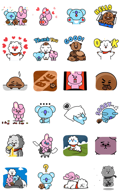 UNIVERSTAR BT21: Cosmic Chemistry Part 2 Sticker for LINE, WhatsApp, Telegram — Android, iPhone iOS