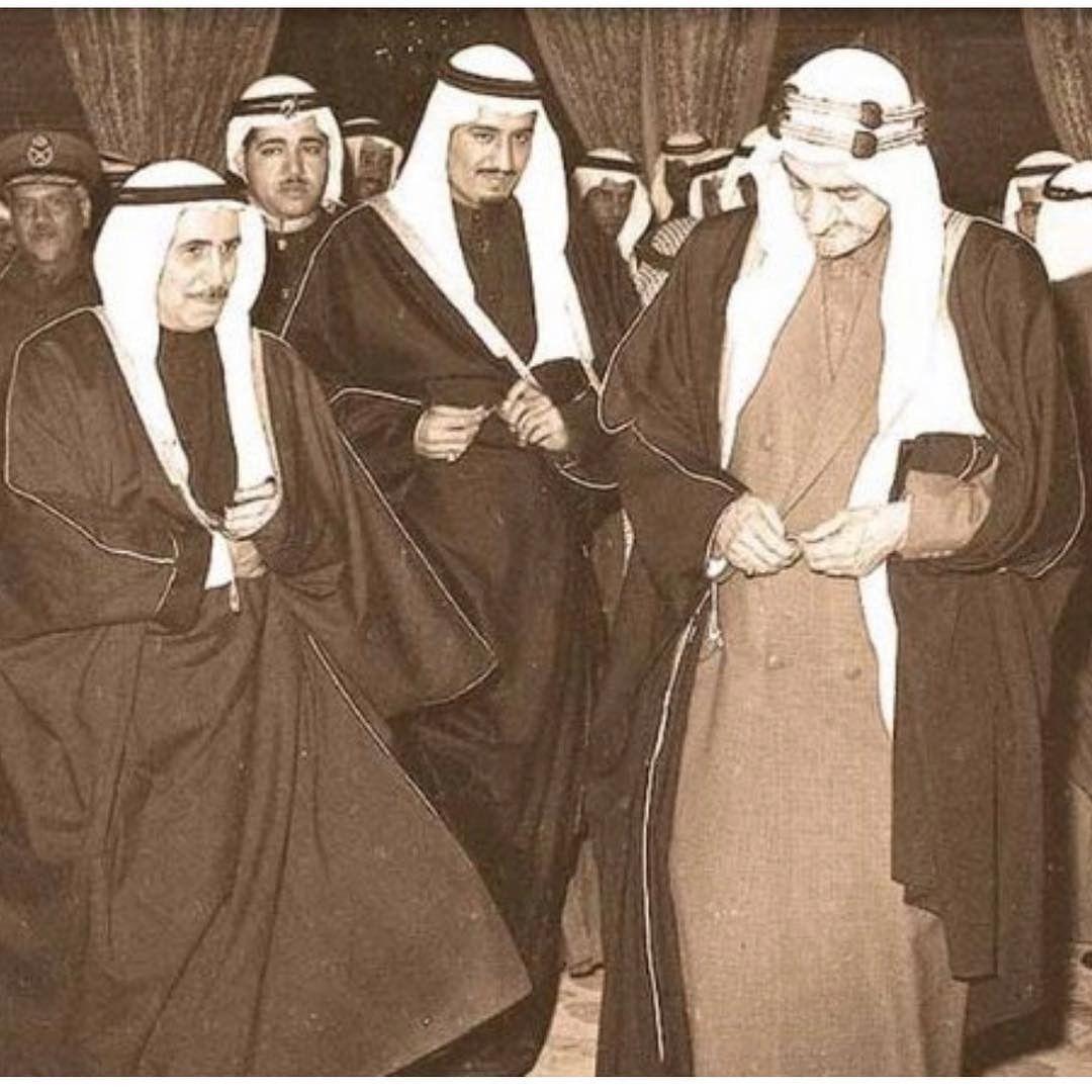 صباح السالم الصباح و فيصل بن عبد العزيز طيب الله ثراهما و اسكنهما الجنة Arabian Art Face Art King Faisal