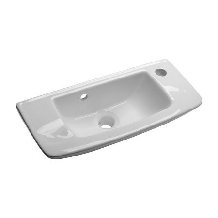 Small Bathroom Wall Mount Sink, Overflow, Easy Install Easy Clean