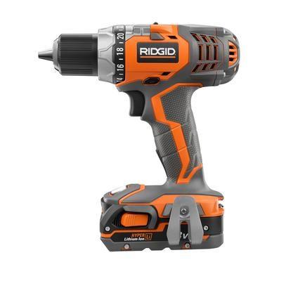 ridgid - ridgid 18v x4 compact drill - r86008k - home depot canada ...