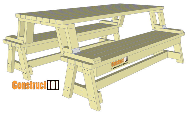 Awe Inspiring Folding Picnic Table Plans Easy To Build Projects Bench Gmtry Best Dining Table And Chair Ideas Images Gmtryco