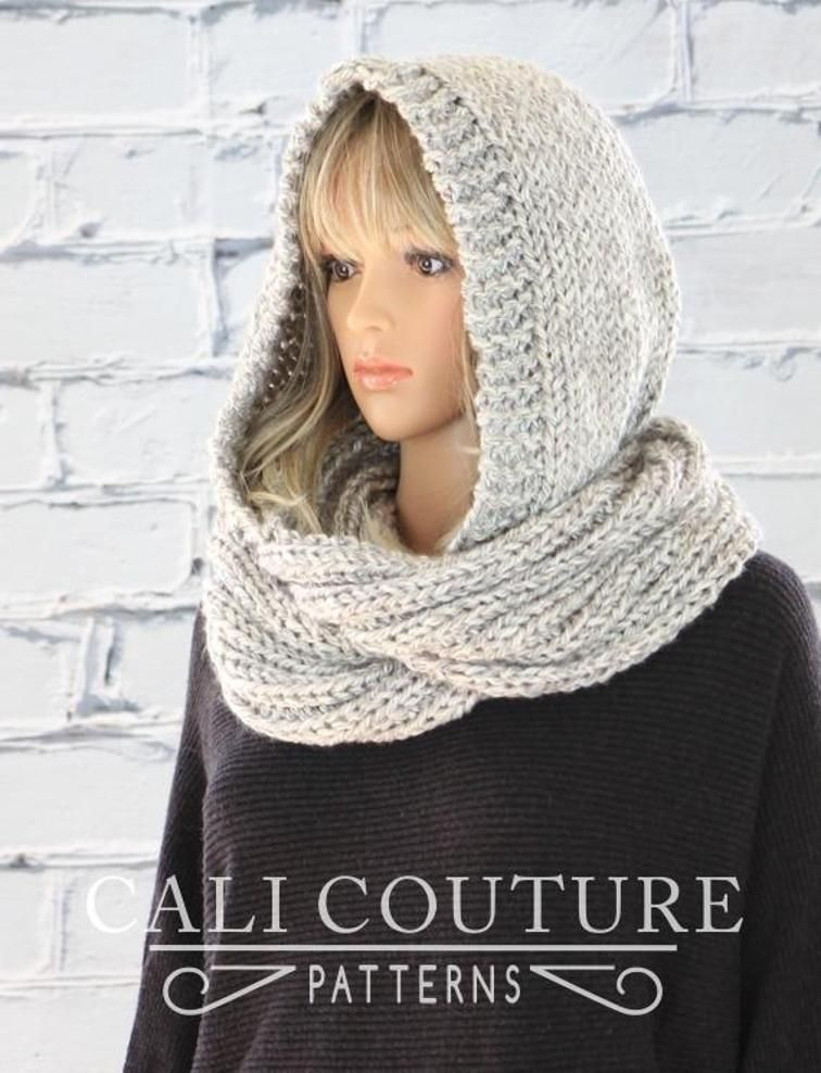 Knit Hooded Scarf Celine 802 Ccs Diy Knitting And Crochet