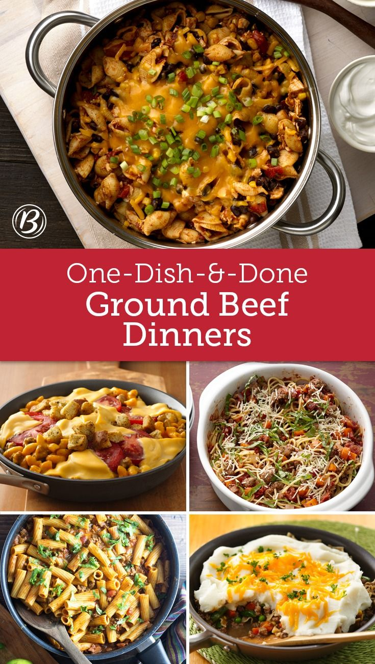 Grab A Pound Of Ground Beef And A Single Pot Or Pan Before You Know It Dinner S Done Easy Clean Up Dinner With Ground Beef Beef Dinner Kraft Dinner Recipes
