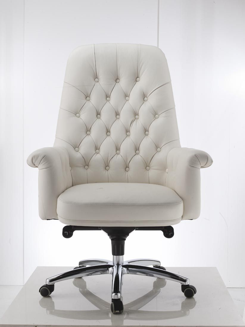"new white ""grandoli"" office chair french provincial european"