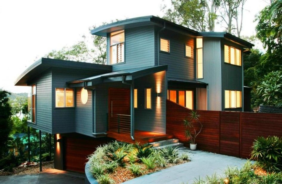 Home Exterior Design Ideas contemporary home exterior design ideas | colour contrast