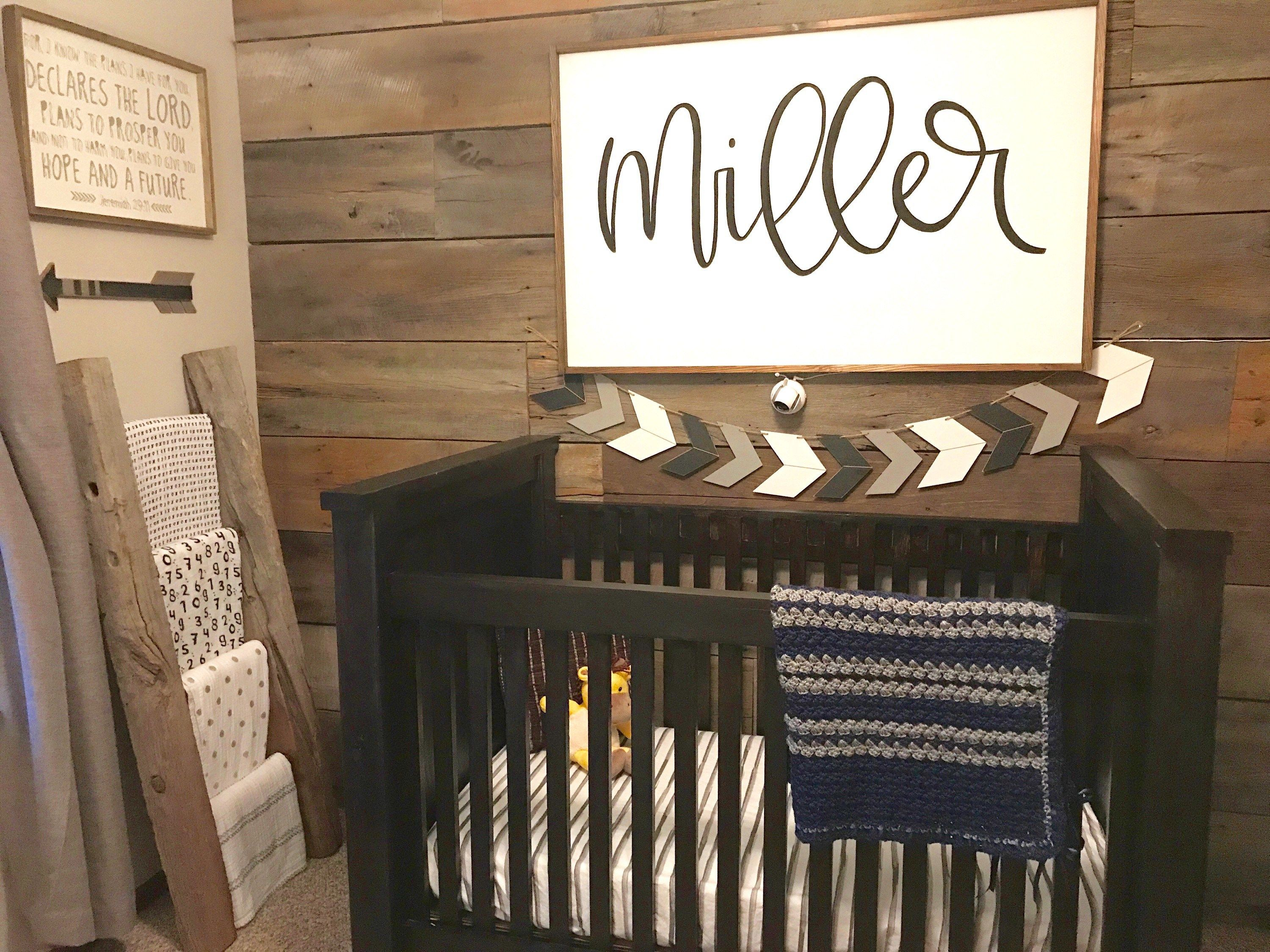 A Peak At Miller S Monochromatic Rustic Farmhouse Nursery As We Roach 37 Weeks Of Pregnancy And Are Waiting On His Arrival