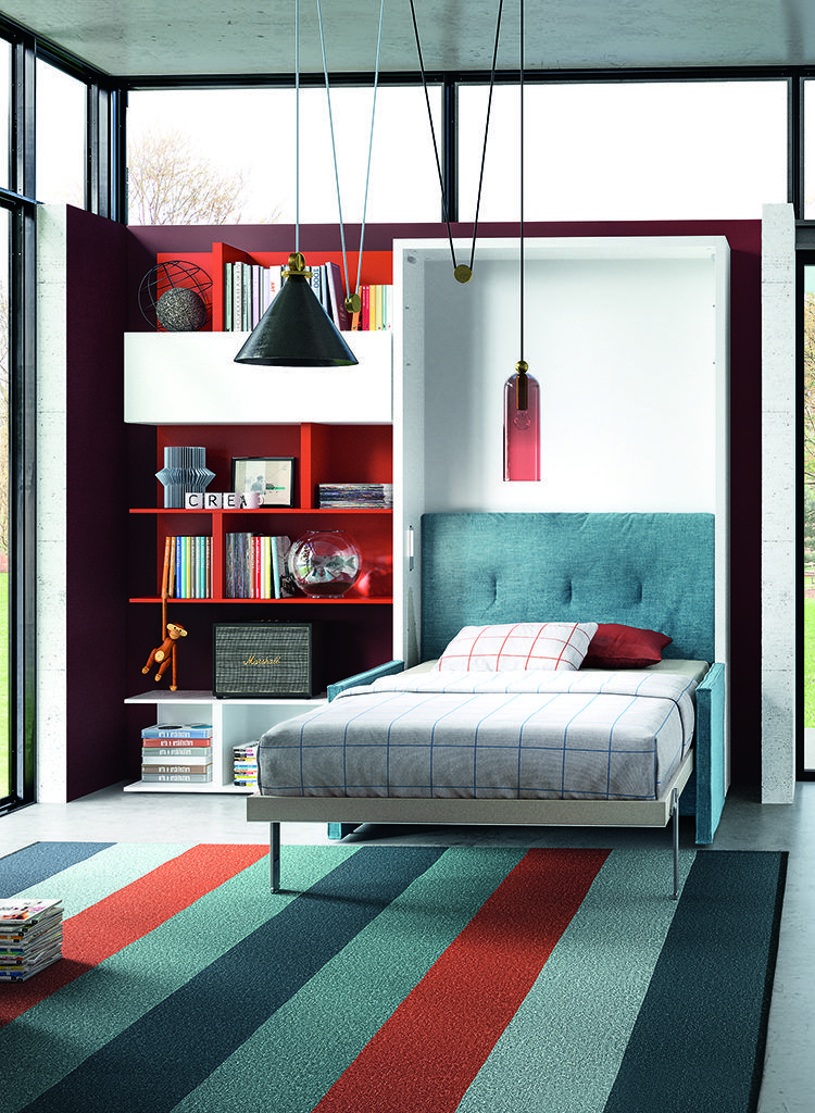 The Altea Sofa is a wall bed system that features an interior