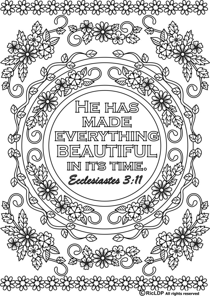 15 Bible Verses Coloring Pages Coloring Pages Coloring Pages