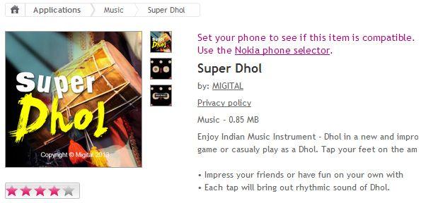 Super Dhol #Super #Dhol #Mobile #Phones #Apps #Music #Nokia