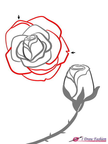 How To Draw Roses I Draw Fashion Flower Crown Drawing Roses Drawing Crown Drawing